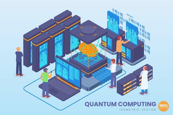 Thumbnail for Isometric Quantum Computing Vector Concept