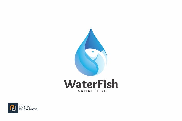 Thumbnail for Water Fish - Logo Template
