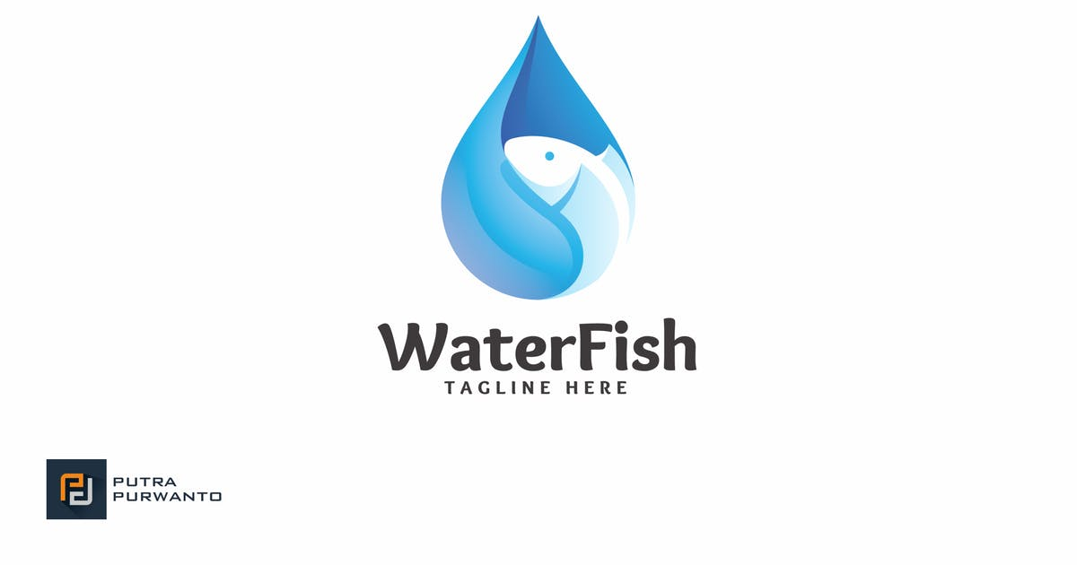 Download Water Fish - Logo Template by putra_purwanto