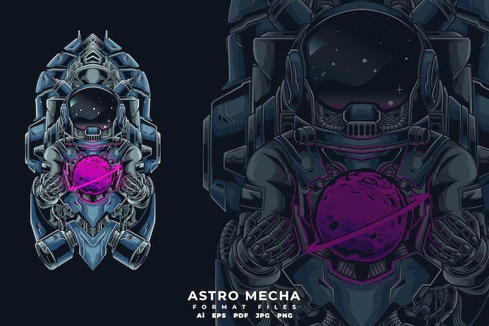 Thumbnail for Astro mecha T-shirt design