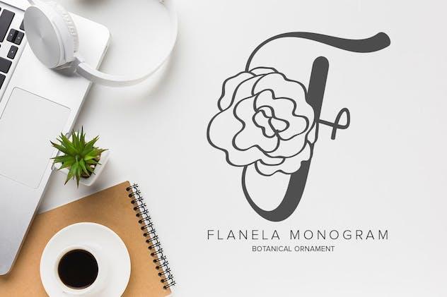 Flanela Monogram Font - product preview 0