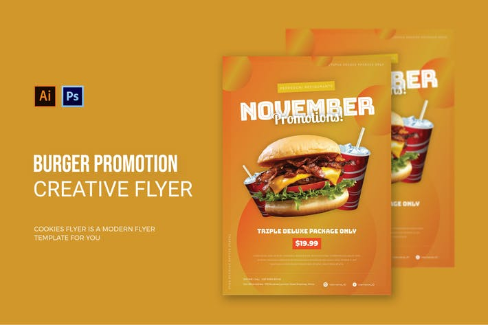 Thumbnail for Burger Promotion - Flyer