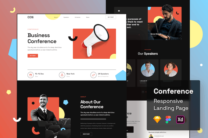 Thumbnail for Conference Responsive Landing Page