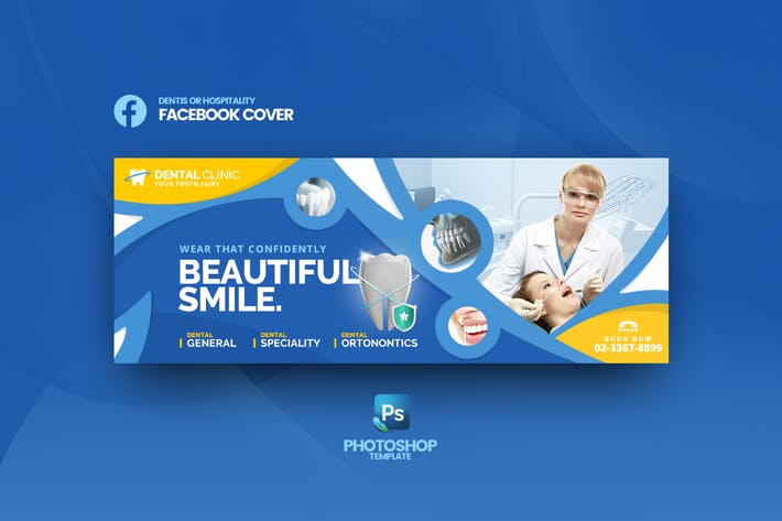 Thumbnail for Dental Clinic Facebook Cover Template