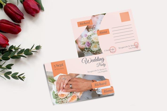 Thumbnail for Wedding Postcard