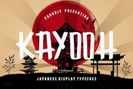 Kayooh Japanese Business Font