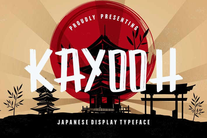 Thumbnail for Kayooh Japanese Display Typeface