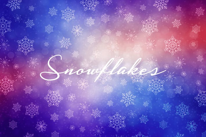 Thumbnail for Winter Snowflakes Backgrounds