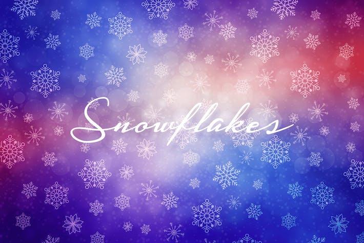Winter-Schneeflocken Hintergründe