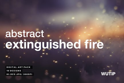 Abstract Extinguished Fire Backgrounds 02
