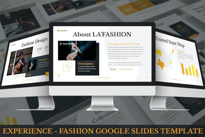 Thumbnail for Experience - Mode Google Slides Vorlage