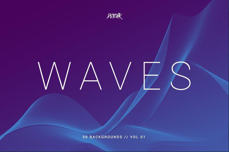 Waves | Network Lines Backgrounds | Vol. 01