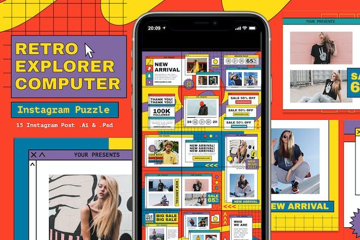 Retro Explorer Computer Instagram Puzzle