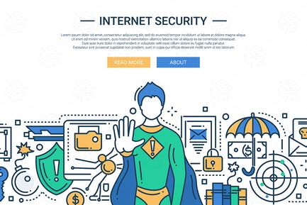 Internet Security - Liniendesign Website Banner