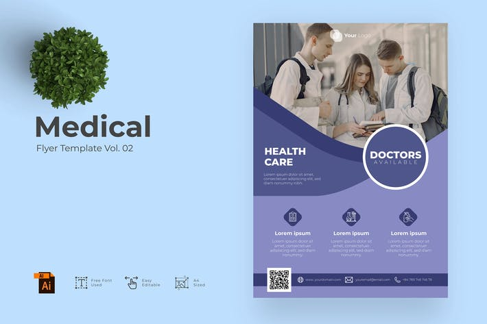 Medical Flyer Design Template Vol. 02