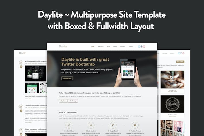 Thumbnail for Daylite - Multipurpose Responsive HTML5 Template