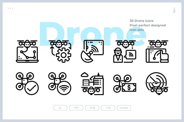 Thumbnail for 30 Drone Icons