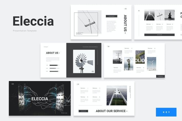 Thumbnail for Eleccia - Renewable Energy Keynote Template