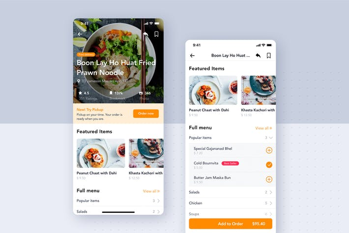 Thumbnail for Restaurant Detail UI Concept for Food App