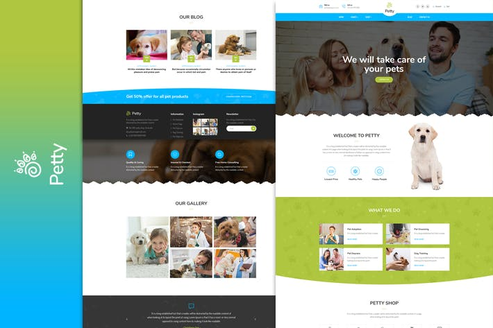 Cover Image For Pet Shop - HTML Template
