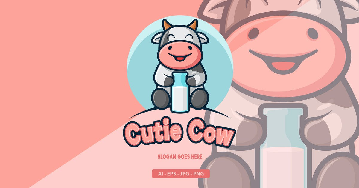 Download Cow - Mascot Logo by aqrstudio