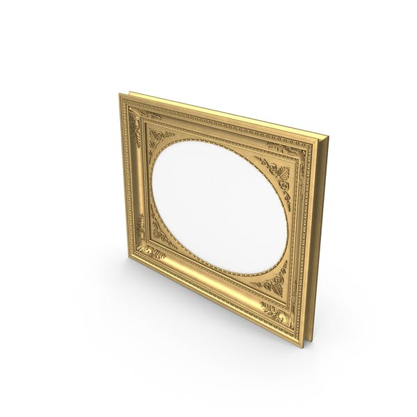 Cover Image for Oval Baroque Picture Frame