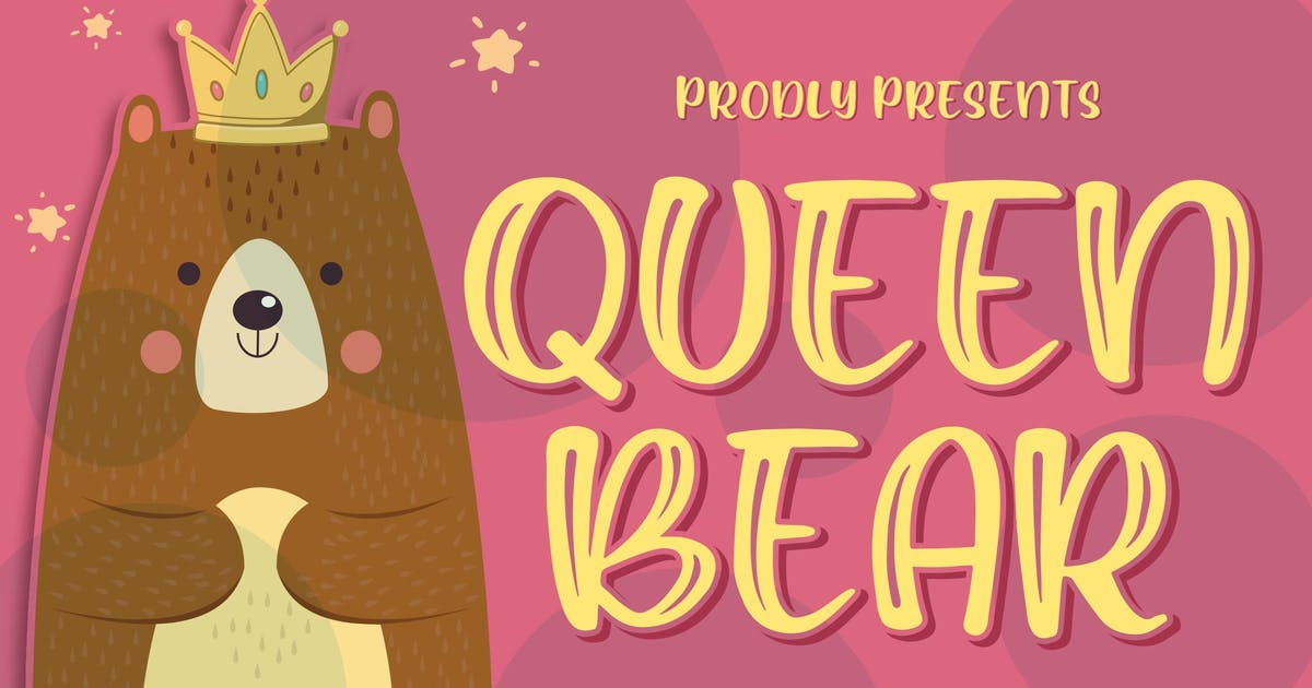 Download Queen Bear - Quirky Layered Font by Blankids