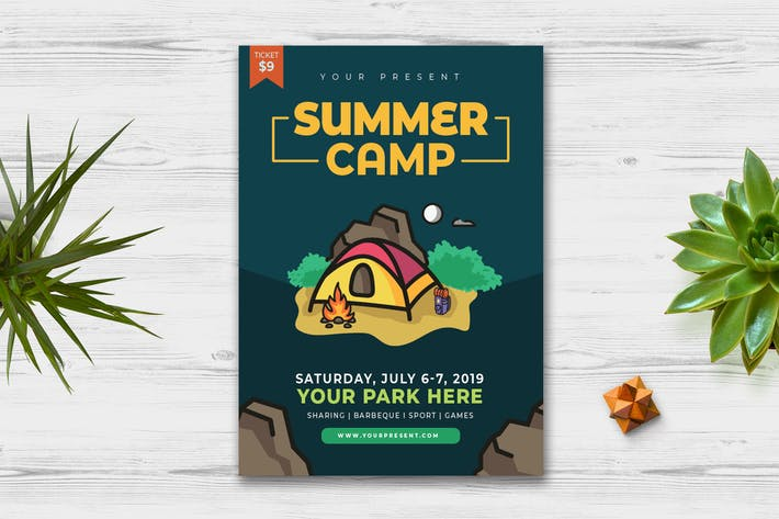 Thumbnail for Summer Camp Flyer vol.2