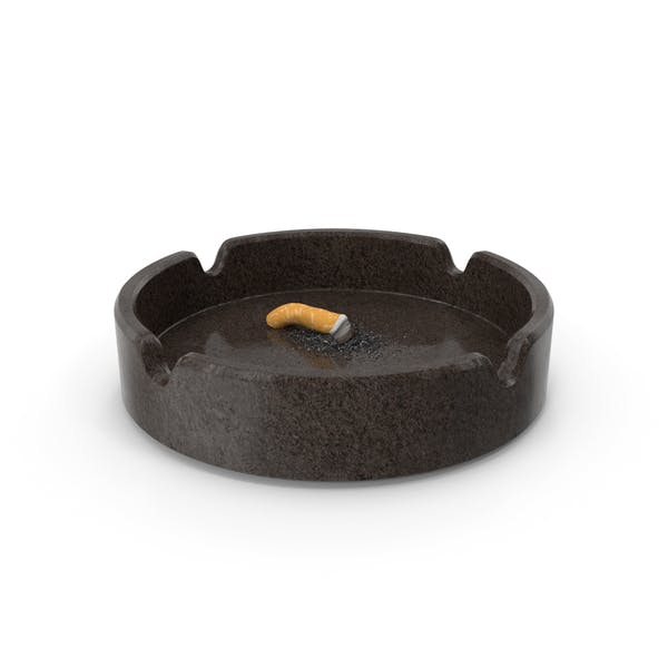 Put out cigarette in granite ashtray