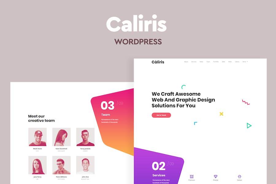 Caliris - Responsive One Page WordPress Theme