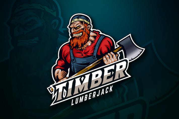 Thumbnail for Lumberjack Sport And Esport Logo Vector Template