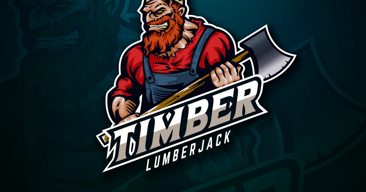 Download Lumberjack Sport And Esport Logo Vector Template by naulicrea