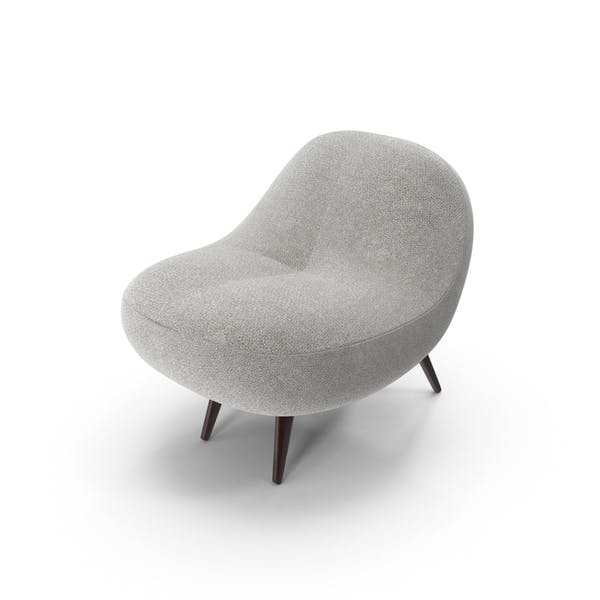 Grau Super Plüsch Stuhl
