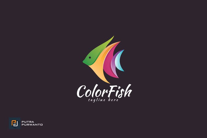 Thumbnail for Color Fish - Logo Template