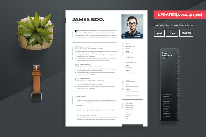 Cover Image For Clean Resume / CV Template 04