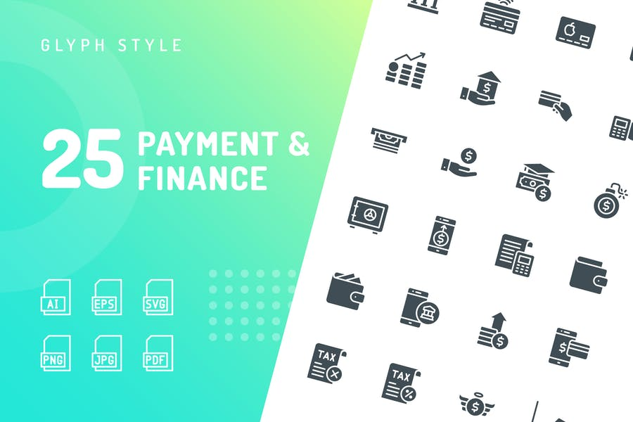 Payment & Finance Glyph Icons