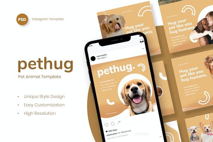 Thumbnail for Pethug Post - Animal Animal Instagram Post Modèle