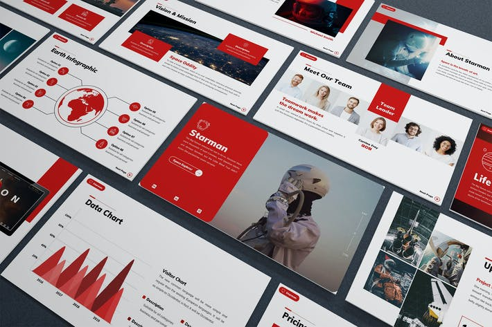 Thumbnail for Starman - Technology Powerpoint Template