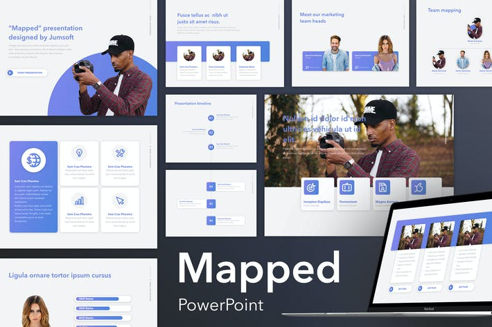 Mapped PowerPoint Template