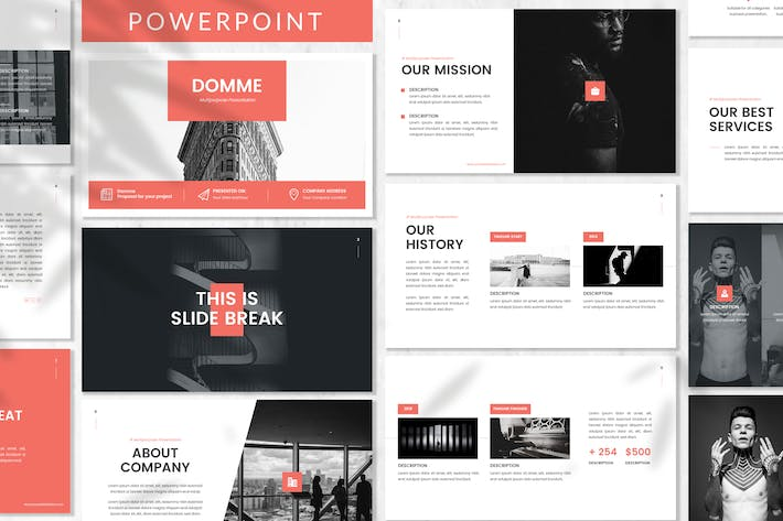 Cover Image For Domme - Architecture Powerpoint Template