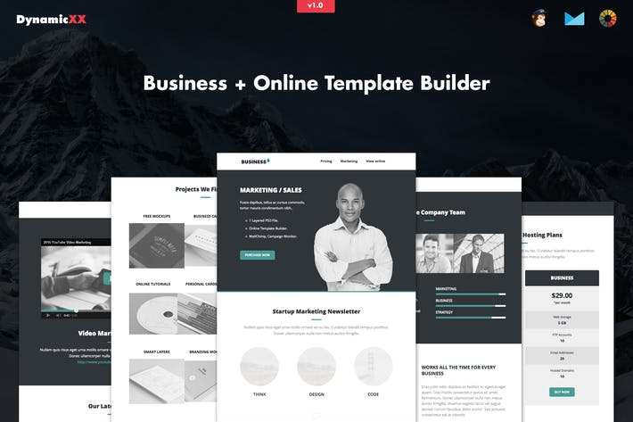 Thumbnail for Business - Responsive Corporate Email Template
