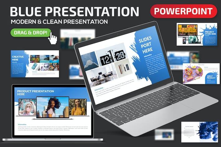 Thumbnail for Синяя презентация Powerpoint
