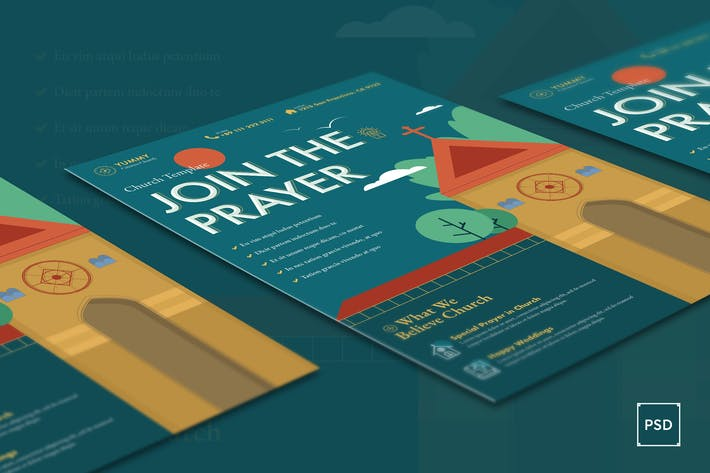 Thumbnail for Church Flyer PSD Template