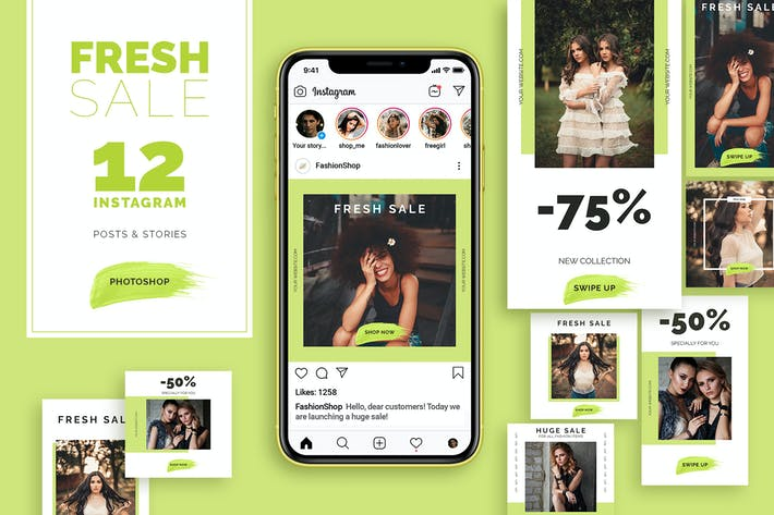Cover Image For Fresh Sale - Instagram Posts&Stories