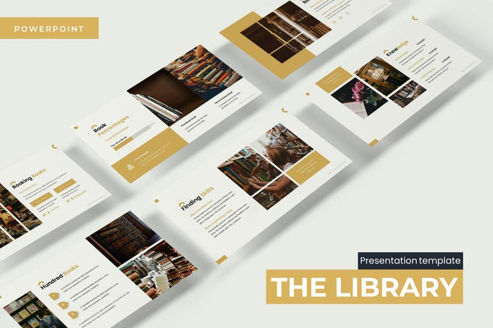 Thumbnail for The Library - Powerpoint Template