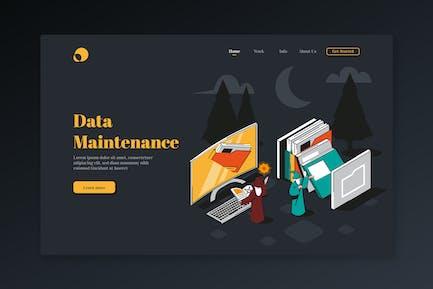 Data Maintenance - Isometric Landing Page