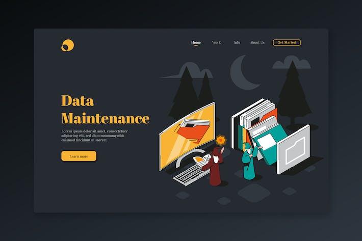 Thumbnail for Data Maintenance - Isometric Landing Page