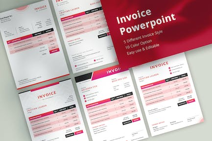 Professional Invoice Powerpoint Template