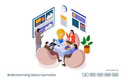 Brainstorming-Ideen isometrisch