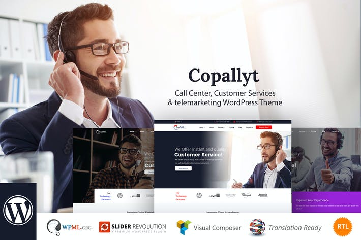 Thumbnail for Copallyt - Call Center & Telemarketing WordPress T